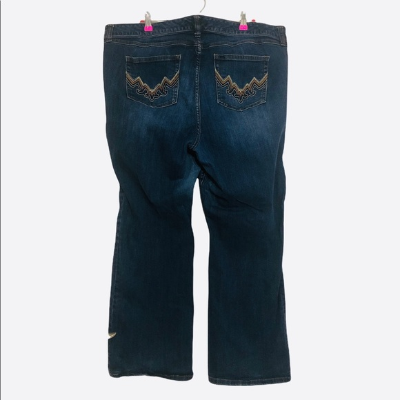 Torrid Bootcut Jeans Embroidered Pockets Plus 22